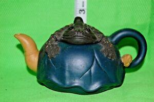 Asian Folk Art Ceramic Frog Tea Pot CHINESE YIXING WARE