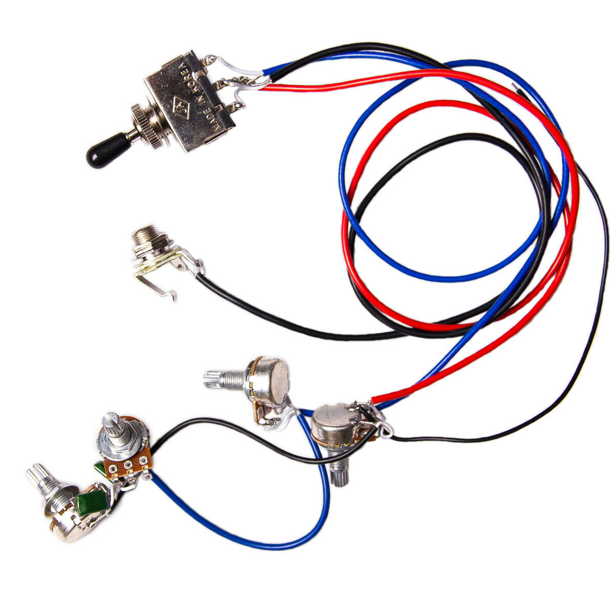 hight resolution of details about electric guitar wiring harness kit 2v2t 3 way switch for guitar parts