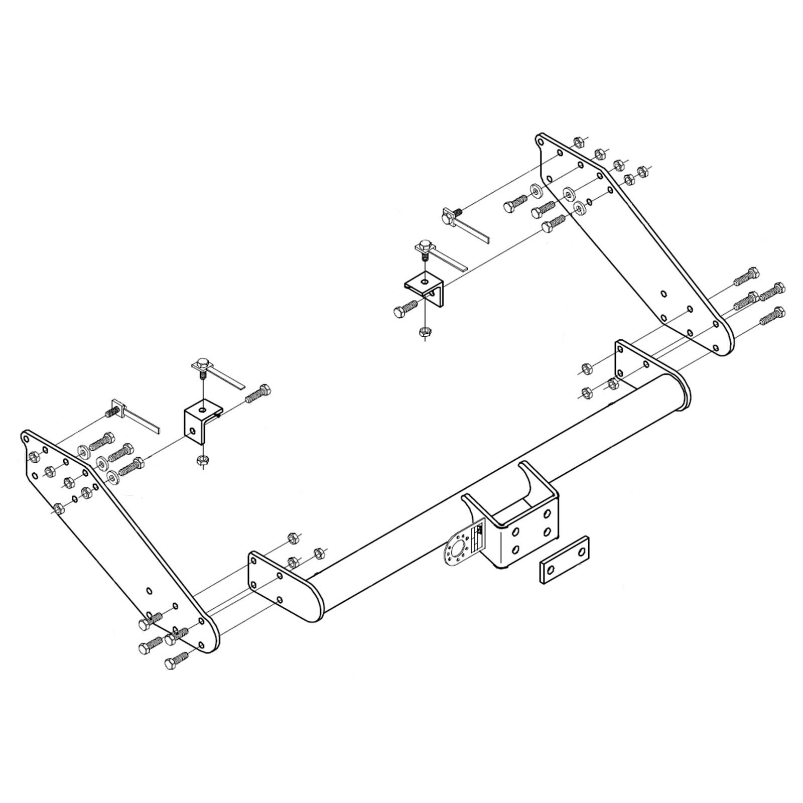 hight resolution of details about towbar for mitsubishi l200 long bed pickup 2009 2015 flange tow bar