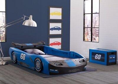 kids twin bed frame race car toddler beds for boys child kid room furniture blue ebay
