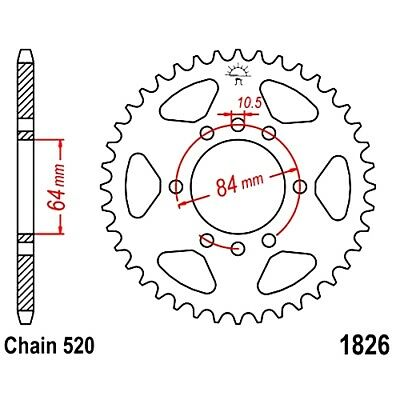 Rear Sprocket 40 Tooth Pitch 520 For Arctic Cat DVX 400