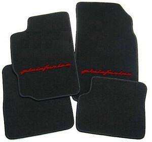 details sur peugeot 406 coupe tapis de sol en velours noir rouge