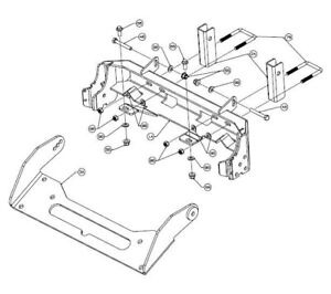WARN UTV ProVANTAGE Front Snow Plow Mount Kit for Can-Am