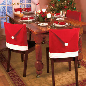 chair covers new year queen anne style 20pcs santa claus caps s goods spilled party image is loading