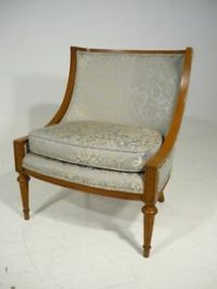 Mid 20th Century Empire Style Wing Back Lounge Chair ...