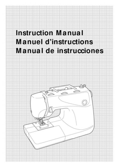 Brother XL-6562 Sewing Machine Owners Instruction Manual