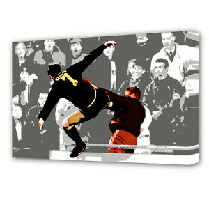 Eric cantona is certainly the most beloved frenchman of great britain. Eric Cantona Football Kick Canvas Art Print 0476 Ebay