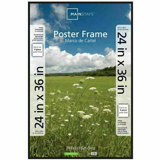 mainstays 24x36 thin poster and picture frame black 12641