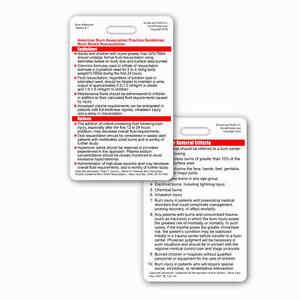 ABA Burn Care Guidelines & Referral Criterria Vertical