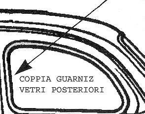 COPPIA GUARNIZIONI VETRO FISSO POSTERIORE FIAT 500
