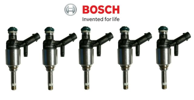 Set of Five Fuel Injector DI Bosch 07K906036 For Audi RS3