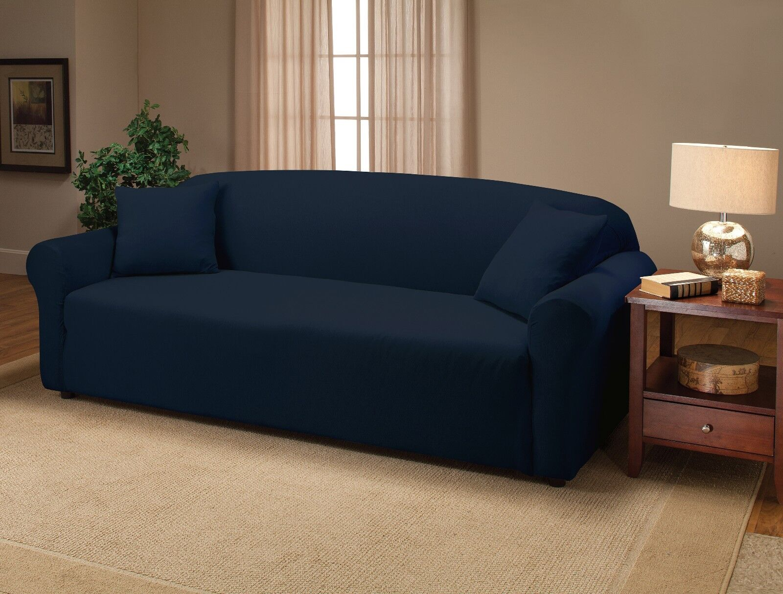Sofa And Chair Covers Navy Blue Jersey Couch Stretch Slipcover Furniture Covers
