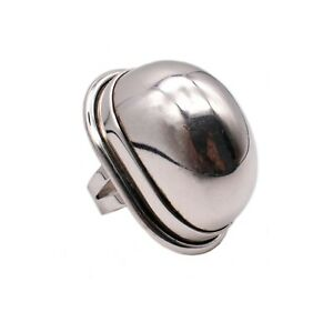YVES SAINT LAURENT 1990 PARIS STERLING SILVER DOOMED RING SIZE 6 WITH BOX RARE!! | eBay
