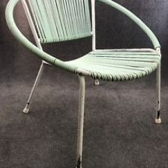 Patio String Chair Steel Weight Mid Century Modern Ames Aire Lounge Hoop Ebay Image Is Loading
