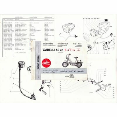 Catalogo ricambi motore telaio Garelli Katia M pedali 1973