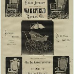 Heywood Wakefield Wicker Chairs Hanging For Rooms Super Rare 1879 Lg Advertising Rattan Image Is Loading