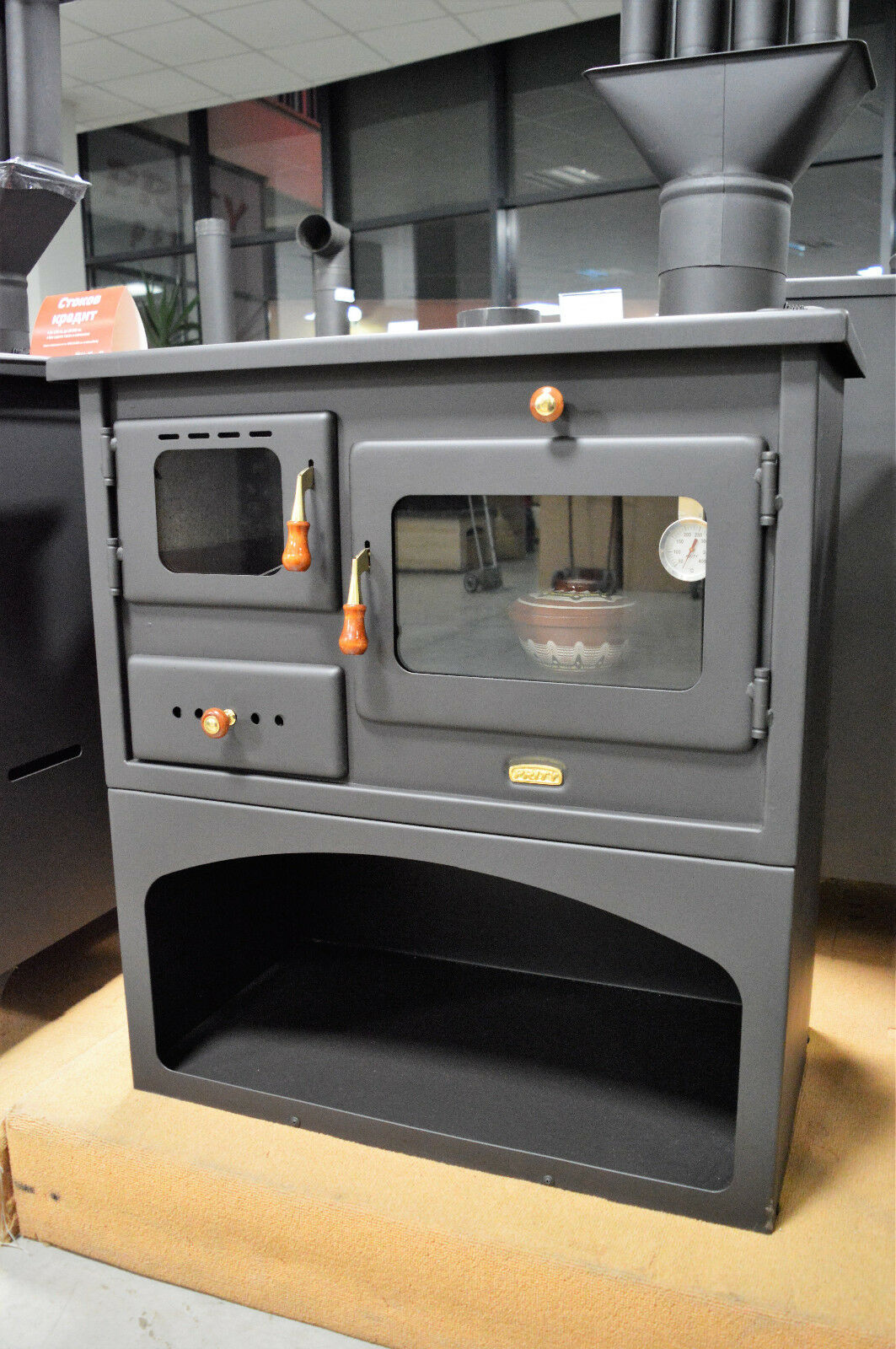 Wood Burning Cast Iron Top Solid Fuel Cooking Stove