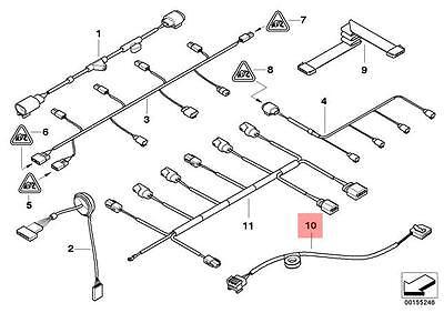 Genuine BMW E65 E66 Sedan Adapter Cable Night Vision OEM