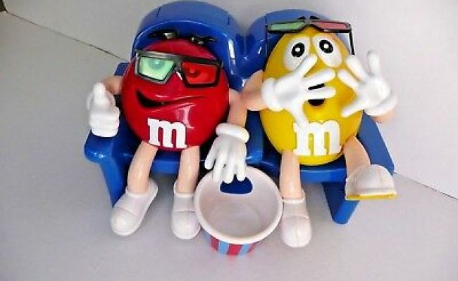 M M S At The Movies In 3d Candy Dispenser Red Yellow