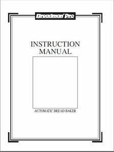 BREADMAN TR800 MANUAL PDF