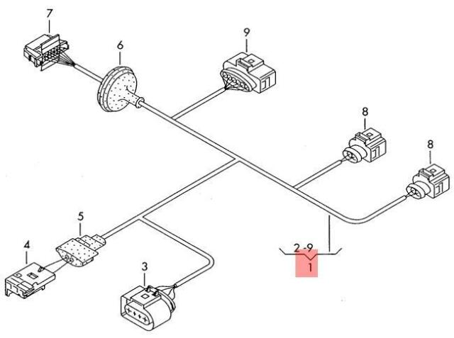 Genuine VW Passat 4Motion Variant Wiring Harness For Fuel