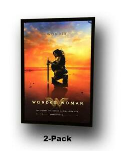 details about 2 2 pack 27x40 custom premium led light box movie poster display frames