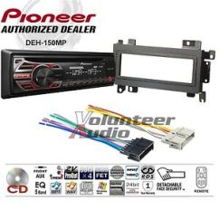 Pioneer Car Cd Player Wiring Diagram Spst Switch Radio Stereo Dash Install Mounting Kit + Harness | Ebay