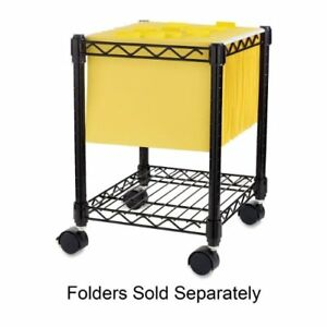 Lorell Compact Mobile Wire Filling Cart - 4 Caster - 15.5