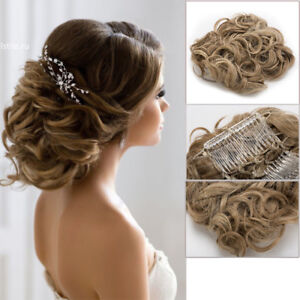 image is loading large comb clip in curly hair piece chignon
