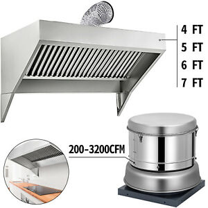 details about 4 5 6 7 food truck trailer concession hood roof hood exhaust fan 200 3200cfm