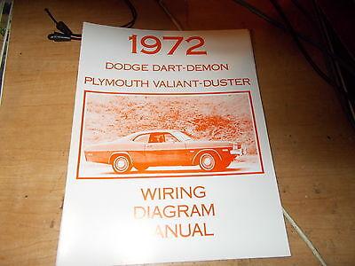 1972 dodge dart demonio el diagrama de cableado manual  ebay
