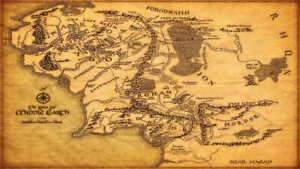details zu 14250 map of middle earth the lord of the rings map laminated poster de