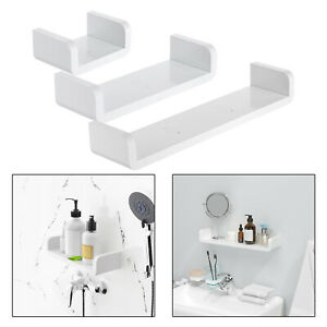 details about floating shelf u shape bathroom tile wall mount organizer display shelves