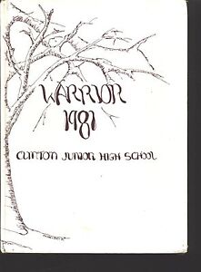 Clinton NY Clinton Junior High Middle School yearbook 1981