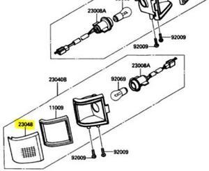 Kawasaki OEM Replacement Rear Left Turn Signal Lens 88-90