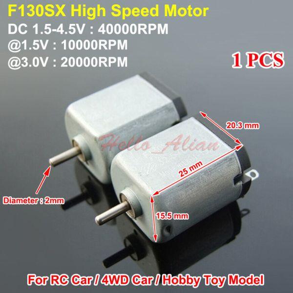 Mini 130 DC Motor DC15V 45V 40000RPM High Speed for RC