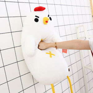 details about cute plush toy funny cool chicken chick soft doll long body pillow cushion gift