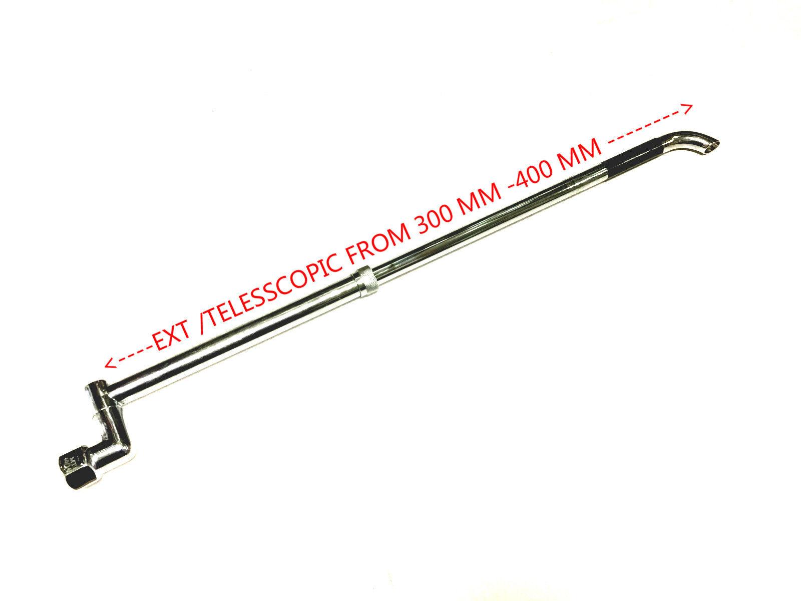 300 MM EXT TO 450 mm LAUNDRY ARM TELESCOPIC CHROME POLISH