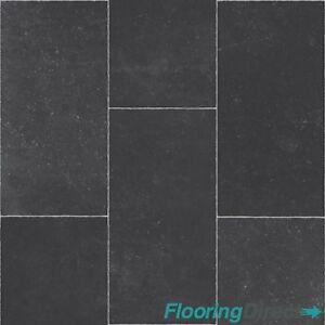 details about 2 3 4m thick vinyl flooring dark grey oblong stone tile kitchen bathroom thick