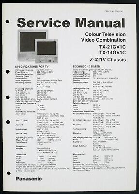 Panasonic TX-21GV1C TX-14GV1C Original Colour TV/VCR