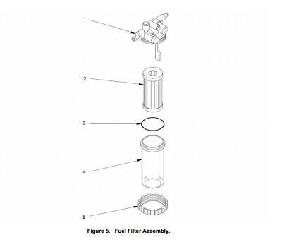 MEP531A-MEP501A Fuel Filter Assembly Yanmar 114789-55500