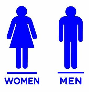 WOMEN MEN RESTROOM BATHROOM LOGO DECALS STICKERS CHOOSE