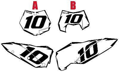 Fits KTM 250 EXC 2008 Pre-Printed White Backgrounds with