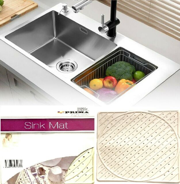 non slip rubber belfast sink protector liner draining drainer mats mat