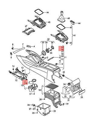 Genuine AUDI Q5 83B 8RB insert for cupholder 8R0862435A4PK