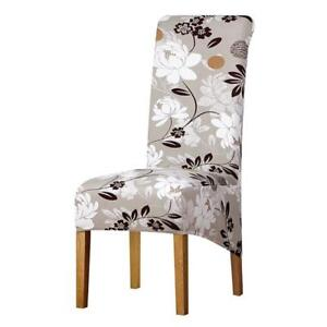 chair covers long back bathtub baby high large size chairs big floral printed image is loading
