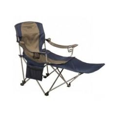 High Outdoor Folding Chairs Red Bungee Chair Camp Camping Footrest Heavy Duty Lounge Image Is Loading