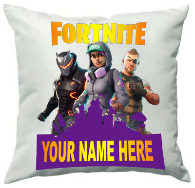 personalised fortnite cushion cover photo pillow case custom with any name game ebay