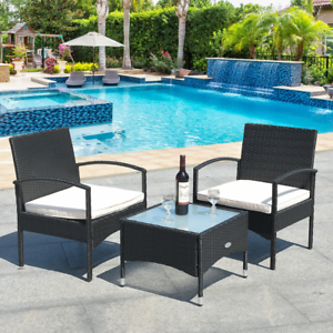 details about wicker bistro set 3 piece outdoor table chairs patio furniture sets clearance