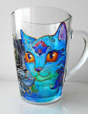 Glass Cup Painting : glass, painting, Painted, Coffee, Stained, Glass,, Painting, Colorful